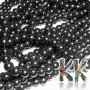 Tumbled round beads made of synthetic mineral hematite with a diameter of 6 mm and a hole for a thread with a diameter of 1.5 mm. Country of origin: Brazil THE PRICE IS FOR 1 PCS.