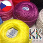 Czech embroidery cotton yarn Perlovka wound into a ball weighing 10 g and a coil length of about 85 m. THE PRICE IS FOR 1 CLUB - COIL 85 m.