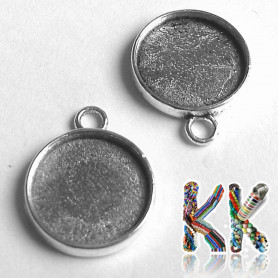 Round pendant with bed - for cabochon ∅ 12 mm