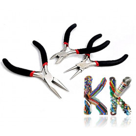 Basic set of 3 pliers for jewelry making
