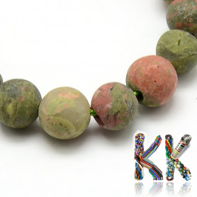 Confused unakite beads - ball - ∅ 8 mm