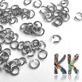 Stainless steel connecting rings - ∅ 4 mm (10 pcs)