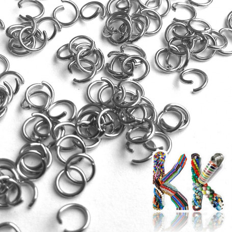 Stainless steel connecting rings - ∅ 5 mm (8 pcs)