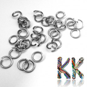 Stainless steel connecting rings - ∅ 8 mm (4 pcs)