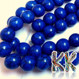 Synthetic tyrkenite beads - ∅ 8 mm - colored balls