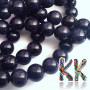 Tumbled round beads made of a synthetic mineral known as golden aventurine (or synthetic sunstone) in a deep blue color with a diameter of 8 mm and a hole for a thread with a diameter of 1 mm. Country of origin: China THE PRICE IS FOR 1 PCS.