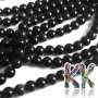 Tumbled round beads made of obsidian mineral with a diameter of 6 mm and a hole for a thread with a diameter of 1 mm. The beads are absolutely natural without any dye. Country of origin: Mexico THE PRICE IS FOR 1 PCS.