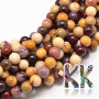 Tumbled round beads made of mookaite mineral with a diameter of 8 mm with a hole for a thread with a diameter of 1 mm. The beads are completely natural without any dye. Country of origin: Australia THE PRICE IS FOR 1 PCS.