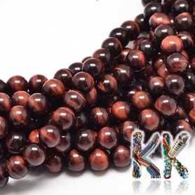 Natural red tiger eye - ball - ∅ 8 mm - slightly colored