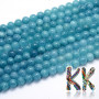 Tumbled round beadsmade of blue quartz mineral beads with a diameter of 8 mm with a hole for a thread with a diameter of 1 mm. The beads are completely natural and are dyed. Country of origin: China THE PRICE IS FOR 1 PCS.