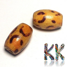Wooden bead - ∅ 8 x 12 mm - olive