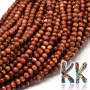 Tumbled round beads made of a synthetic mineral known as golden aventurine (or synthetic sunstone) with a diameter of 4 mm and a hole for a thread with a diameter of 0.5 mm. Country of origin: China THE PRICE IS FOR 1 PCS.