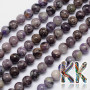 Tumbled round beads made of rare natural charoite mineral with a diameter of 8 mm with a hole for a thread with a diameter of 1 mm. The beads are absolutely natural without any dye. Country of origin: Russia THE PRICE IS FOR 1 PCS.