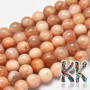 Tumbled round beads made of a natural mineral called sunstone with a diameter of 8 mm and a hole for a thread with a diameter of 0.8 mm. The beads are completely natural without any dye. Country of origin: Madagascar THE PRICE IS FOR 1 PCS.
