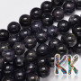 Tumbled round beads made of natural mineral iolite with a diameter of 8 mm with a hole for a thread with a diameter of 1 mm. The beads are completely natural without any dye. Country of origin: USA THE PRICE IS FOR 1 PCS.