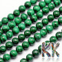 Tumbled round beads made of mineral malachite with a diameter of 8 mm and a hole for a thread with a diameter of 1 mm. The beads are absolutely natural without any dye. Country of origin: Africa (not specified by the manufacturer) THE PRICE IS FOR 1 PCS.