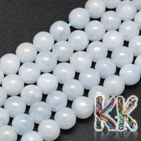 Natural blue calcite - ∅ 8 mm - beads