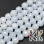 Tumbled round beads made of natural mineral blue calcite with a diameter of 8 mm with a hole for a thread with a diameter of 1 mm. The beads are completely natural without any dye. Country of origin: Madagascar THE PRICE IS FOR 1 PCS.