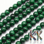 Tumbled round beads made of mineral malachite with a diameter of 6 mm and with a hole for a thread with a diameter of 1 mm. The beads are absolutely natural without any dye. Country of origin: Africa (not specified by the manufacturer) THE PRICE IS FOR 1 PCS.