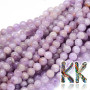 Tumbled round beads made of rare natural mauve jade with a diameter of 6 mm and a hole for a thread with a diameter of 0.8 mm. The beads are absolutely natural without any dye. Country of origin: Brazil THE PRICE IS FOR 1 PCS.
