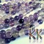 Tumbled round beadsmade of fluorite mineral with6 mm diameter and a hole for a 0.8 mm diameter thread. The beads are completely natural without any dye. Country of origin: Russia THE PRICE IS FOR 1 PCS.