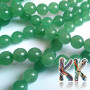 Tumbled round beads made of natural green aventurine with a diameter of 6 mm and a hole for a thread with a diameter of 0.8 mm. The beads are absolutely natural without any dye. Country of origin: China THE PRICE IS FOR 1 PCS.