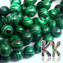 Tumbled round beads made of synthetic mineral malachite with a diameter of 6 mm and a hole for a thread with a diameter of 1 mm. Country of origin: China, Taiwan THE PRICE IS FOR 1 PCS.