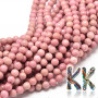 Tumbled round beads made of rhodonite mineral with a diameter of 8 mm with a hole for a thread with a diameter of 1 mm. The beads are completely natural without anydye. Country of origin: Brazil THE PRICE IS FOR 1 PCS.