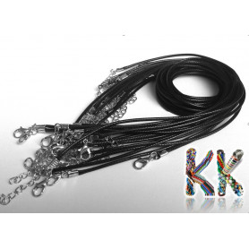 Waxed cotton cord with cabaret - circumference 41 cm