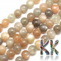 Tumbled round beads made of moonstone mineral with a diameter of 8 mm with a hole for a thread with a diameter of 1 mm. The beads are completely natural without any dye. Country of origin: Madagascar THE PRICE IS FOR 1 PCS.