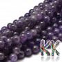 Tumbled round beadsmadeof amethyst mineral with a diameter of 6 mm and a hole for a thread with a diameter of 1 mm. The beads are absolutely natural without any dye. The beads have a quality B guaranteed by the manufacturer, which indicates the variable color of the beads, from completely faded to deep purple. Country of origin: Brazil THE PRICE IS FOR 1 PCS.