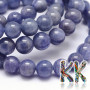 Tumbled round beads made of one of the rarest minerals on the planet - natural tanzanite - with a diameter of 8 mm with a hole for a thread with a diameter of 1 mm. The beads are completely natural without any dye. Country of origin: Tanzania THE PRICE IS FOR 1 PCS.