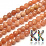 Tumbled round bead made of a natural mineral called sunstone with a diameter of 6 mm and a hole for a thread with a diameter of 1 mm. The beads are completely natural without any dye. Country of origin: Madagascar THE PRICE IS FOR 1 PCS.