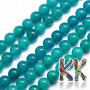 Tumbled round beads made of natural dyed Malaysian jade with a diameter of 8 mm and a hole for a thread with a diameter of 1 mm. The beads are surface-dyed to the appropriate color shade. Country of origin: China THE PRICE IS FOR 1 PCS.