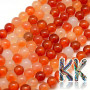 Tumbled round beads made of carnelian mineral with a diameter of 8 mm with a hole for a thread with a diameter of 1 mm. The beads are absolutely natural without any dye and their rich color was achieved by heating - annealing. Country of origin: Mexico THE PRICE IS FOR 1 PCS.