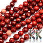 Tumbled round beads made of natural red coral with a diameter of 6 mm with a hole for a thread with a diameter of 0.5 mm. The beads are dyed. THE PRICE IS FOR 1 PCS.
