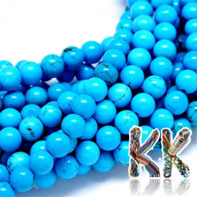 Natural blue sinkiang turquoise - ∅ 6 mm - ball