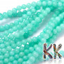 Tumbled round beads made of natural dyed mineral jade imitating amazonite with a diameter of 6 mm with a hole for a thread with a diameter of 0.8 mm. The beads are absolutely natural and have been surface-dyed. Country of origin: China THE PRICE IS FOR 1 PCS.