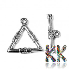 American fastening made of zinc alloy - triangle - 23 x 21.5 x 3 mm