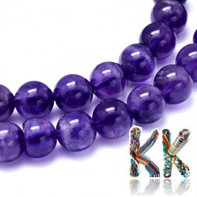 Natural amethyst - ∅ 5 mm - ball - quality between B and AB