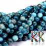 Tumbled round beads made of natural mineral apatite with a diameter of 8 mm with a hole for a thread with a diameter of 1 mm. The beads are completely natural without any dye. Country of origin: Madagascar THE PRICE IS FOR 1 PCS.