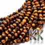 Tumbled round beads made of mineral tiger's eye with a diameter of 8 mm and a hole for a thread with a diameter of 1 mm. The beads are absolutely natural, without anydye. Country of origin: South Africa THE PRICE IS FOR 1 PCS.