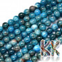 Tumbled round beads made of natural mineral apatite with a diameter of 6 mm with a hole for a thread with a diameter of 1 mm. The beads are completely natural without any dye. Country of origin: Brazil THE PRICE IS FOR 1 PCS.