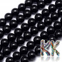 Tumbled round beads made o f tourmaline mineral in its black variety with a diameter of 8 mm with a hole for a thread with a diameter of 1 mm. The beads are completely natural without any dye. The manufacturer stated the qualitative classification of the beads in the AB + category. Country of origin: Brazil THE PRICE IS FOR 1 PCS.
