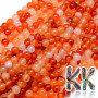 Tumbled round beads made of carnelian mineral with 6 mm diameter and a hole for a 1 mm diameter thread. The beads are absolutely natural without any dye and their rich color was achieved by heating - annealing. Country of origin: Mexico THE PRICE IS FOR 1 PCS.