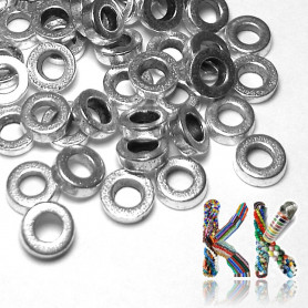 Separating bead made of zinc alloy - donut - Ø 6 x 2 mm