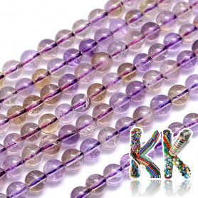 Natural amethrin - ∅ 6 mm - beads