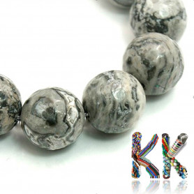 Natural marble - ∅ 6 mm - faceted ball