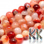 Tumbled round beads made of natural mineral sardonyx with a diameter of 8 mm with a hole for a thread with a diameter of 1 mm. The beads are completely natural without any dye. Country of origin: Brazil THE PRICE IS FOR 1 PCS.