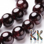Tumbled round beads natural garnet with a diameter of 10 mm and a hole for a thread with a diameter of 1 mm. The beads are absolutely natural without any dye. Country of origin: China (Sinkiang province) THE PRICE IS FOR 1 PCS.